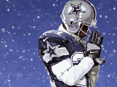 Deion Sanders, Dallas Cowboys vectorart vector illustrator prime time deion deion sanders dallas cowboys cowboys illustration football national football league nfl sports