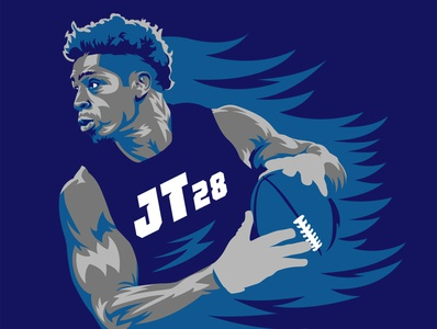Johnathan Taylor • Indianapolis Colts portrait art portrait vector art indianapolis colts indianapolis indy colts branding logo illustration vector football national football league nfl sports