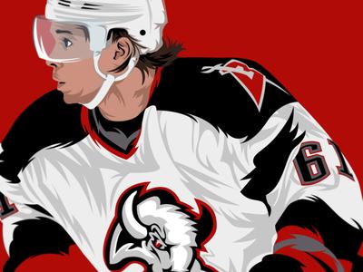 Maxim Afinogenov • Buffalo Sabres illustrator nhl hockey nhl buffalo sabres sabres design illustration buffalo vector sports
