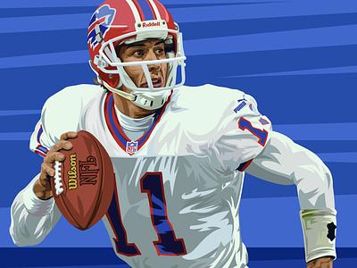 Rob Johnson • Buffalo Bills california usc new york buffalo bills bills mafia bills buffalo illustration vector football national football league nfl sports