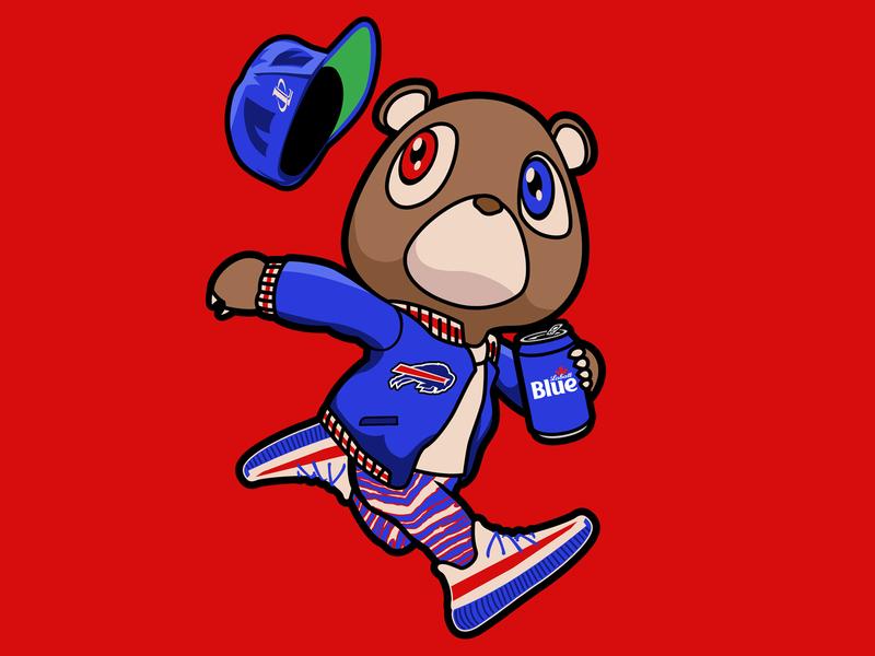 Bills Szn rapper buffalo ny bills buffalo bills bills mafia streetwear rap hiphop kanyewest kanye west kanye buffalo vector football national football league nfl sports