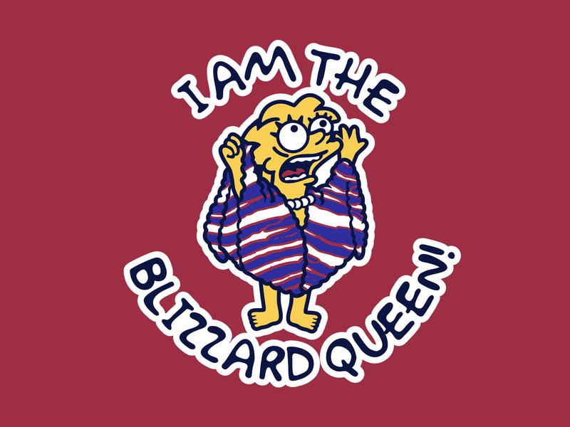 Lisa Simpson Blizzard Queen parody vintage 90s mashup retro the simpsons simpsons bills mafia buffalo bills illustration buffalo vector football national football league nfl sports
