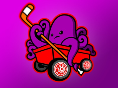 Lil' Red Wings octopus squid detroit red wings red wings detroit concept sports national hockey league hockey nhl