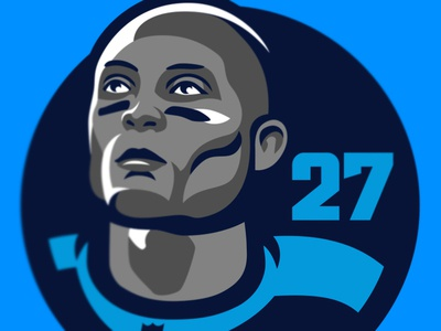 Eddie George Titans Patch icon emblem commemorative patch ncaa heisman titans tennessee sports face football nfl