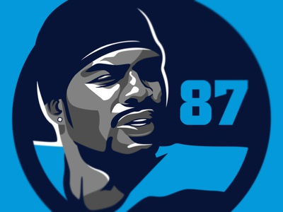 Kevin Dyson - Tennessee Titans vectorart vector athlete titans tennessee logo illustration national football league sports nfl