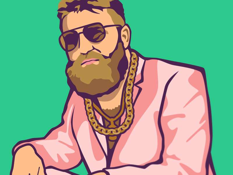 Fitzmagic: Miami bills mafia qb ryan fitzpatrick goat spring break south beach vector art quarterback miami vice dolphins miami fitzmagic national football league nfl sports