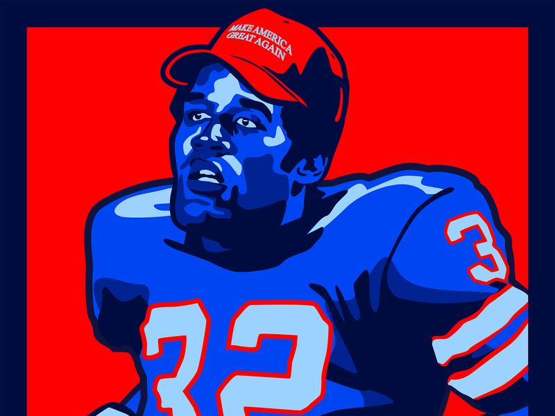 OJ Simpson MAGA heisman juice buffalo ny buffalo bills buffalo sports football shepard fairey obey america oj simpson maga donald trump nfl