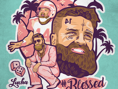 #fitzmagic #blessed miami dolphins vectorart vector south beach miami vice miami illustration football national football league nfl sports