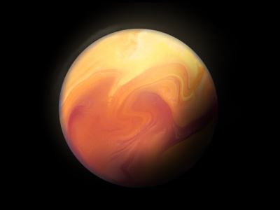 Red Planet digital painting procreate illustration red galaxy solar system space mars planets