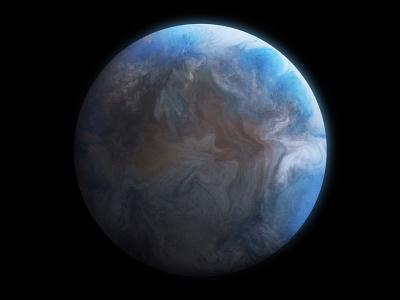 Planet K2-18B procreateapp digital painting spaceman life water telescope exoplanet planets planet spaceship procreate space