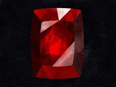 Ruby shiny illustration procreate red gemstone gems crystals crystal ruby