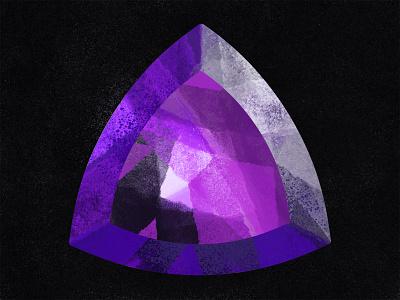 Amethyst shiny illustration procreate quartz purple gemstone gems crystal amethyst