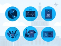 USA Travel Icons