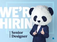 We're hiring a senior designer!
