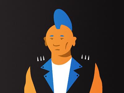 Punk mohawk characterdesign character portrait punkrock punk