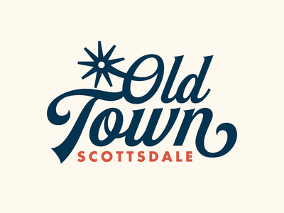 Old Town Logo logotype script spur vintage old town scottsdale az western