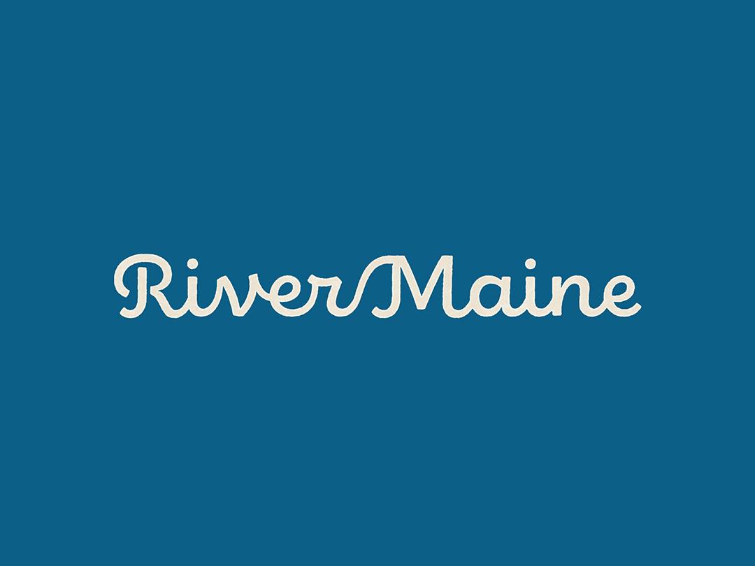 River Maine Wordmark nostalgic identity wordmark script branding logo