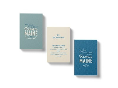 River Maine - Business Cards