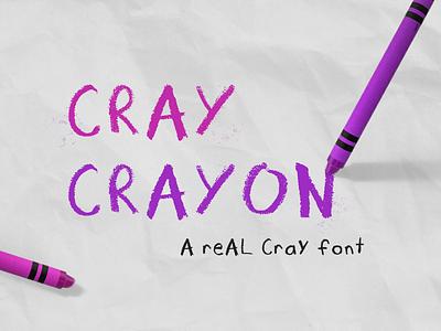 Cray Crayon - Hand drawn font childrens illustration kids illustration kids hand drawn type typogaphy font design font crayola crayon hand drawn