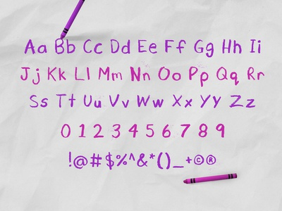 Cray Crayon Font - Alphabet typeface alphabet crayola crayon cray crayon font design font typography hand drawn hand drawn type kids kids illustration childrens illustration