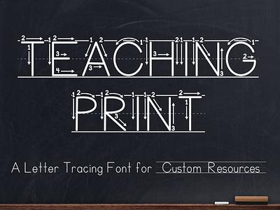 Teaching Print - Letter Tracing Font tpt font design font learning letters tracing tracing font teaching to write learning to write teaching print