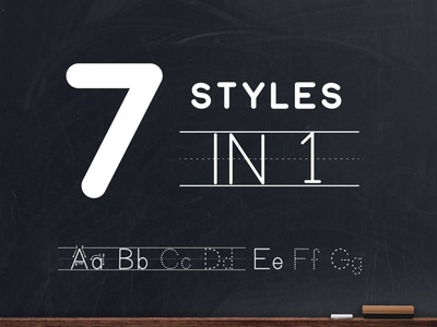 Teaching Print Dotted Lined Font - 7 Styles in 1 font family typeface design dotted tracing font dotted font primary font primary school kindergarten writing kindergarten pre-k prek writing ideas custom teaching resources font teachers pay teachers tpt learning to write tracing font design tracing font teaching print