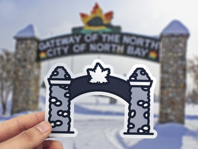 North Bay Gateway Sticker true north experiences city of north bay gateway arch sticker design sticker gateway of the north gateway ontario north bay