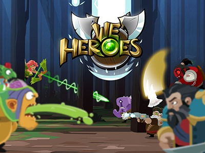 We Heroes - Ancients ios android fighting game old school ancients we heroes dota