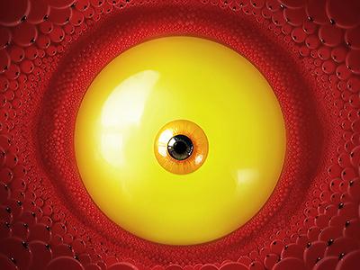 Zed's eye illustration digital art painting eye
