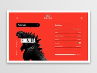 Daily UI 007 | Settings | Kaiju Hunter