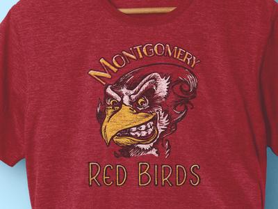 Mockup  Redbird T Shirt Mockup Rev3.5 Redshirt hand drawn apparel tim tourtillotte orbital visual llc montgomery brewing t-shirt art