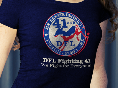 SD41 Fighting41 Womens Tshirt Mockup hand drawn apparel tim tourtillotte orbital visual llc dfl senate district 41 dfl t-shirt art