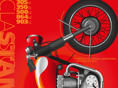 Classic Standards tim tourtillotte orbital visual llc poster art poster cafe racer vintage motorcycle typography