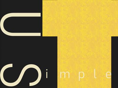Just Simple Poster tim tourtillotte orbital visual llc poster art poster minnesota thefuturchallenge typography
