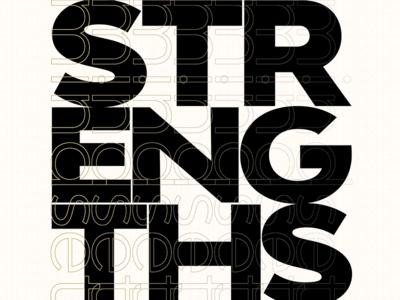 Strengths & Mindset tim tourtillotte orbital visual llc poster art poster minnesota thefuturchallenge typography