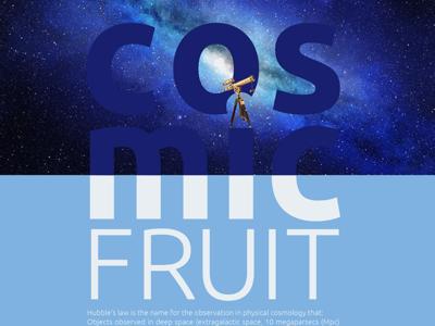 Cosmic Fruit graphic design poster art expert thinker designer design artist orbital visual llc tim tourtillotte branding thefuturchallenge typography