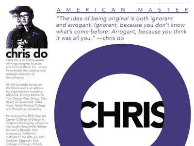 Chris Do graphic design poster art expert thinker designer design artist orbital visual llc tim tourtillotte chris do thefuturchallenge typography