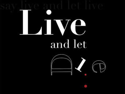 Live and Let Die graphic design poster art expert thinker designer design artist orbital visual llc tim tourtillotte rock music thefuturchallenge typography
