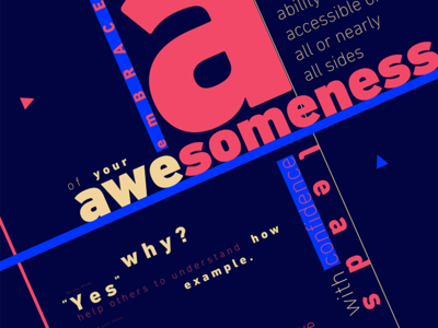 Embrace Your Awesomeness Poster graphic design poster art expert thinker designer design artist orbital visual llc tim tourtillotte branding thefuturchallenge typography