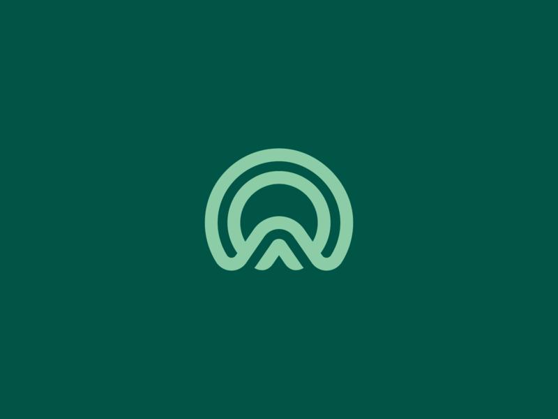 Rhythm vector illustration line flow rhythm church branding icon brand symbol logo mark
