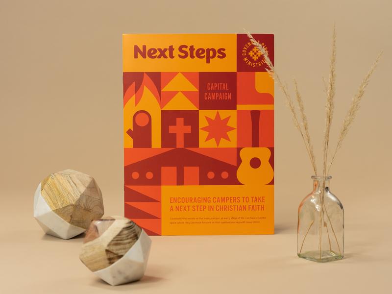 Next Steps Capital Campaign brochure branding vector lockup logo summer camp summer geometric print illustration camp