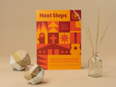 Next Steps Capital Campaign brochure branding vector lockup logo summer camp summer geometric print illustration camp