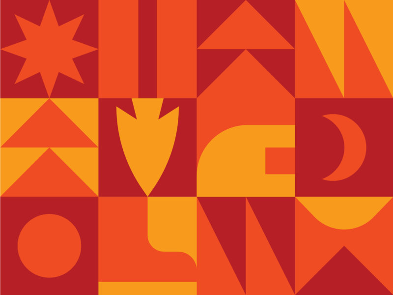 Next Steps Capital Campaign design bible camp fire summer boot arrow branding geometric summer camp camp illustration