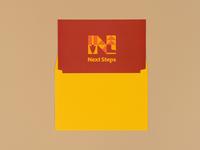Next Steps Capital Campaign summer camp camp print vector geometric typography lockup illustration type branding logo