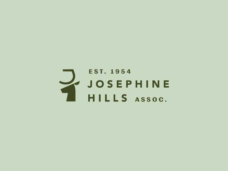 Josephine Hills vector brand geometric mark branding typogaphy type lockup logo animal deer deer logo