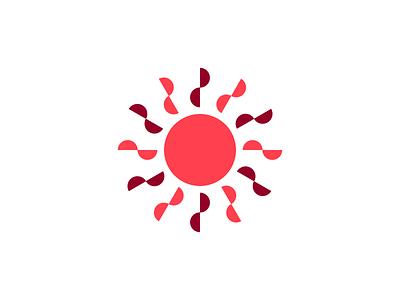 Sunday Sun shapes geometric weekend sundayfunday logo mark icon symbol sunday sun