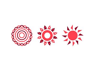 Sunday Suns shapes geometric weekend sundayfunday logo mark icon symbol sunday sun