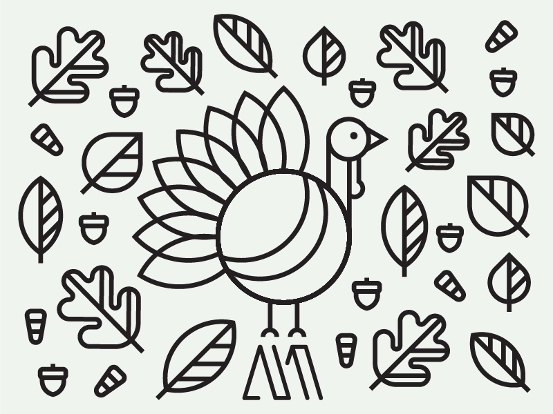 Thanksgiving 2016 logo candycorn leaf lineart icon food stuffing turkey holiday thanksgiving