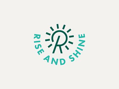 Rise and Shine restraraunt branding logomark logotype logo shine ocean cafe surf bali beach sun