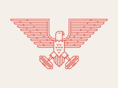 Memorial Day holiday thankyou freedom logo animal eagle illustration merica patriotic day memorial